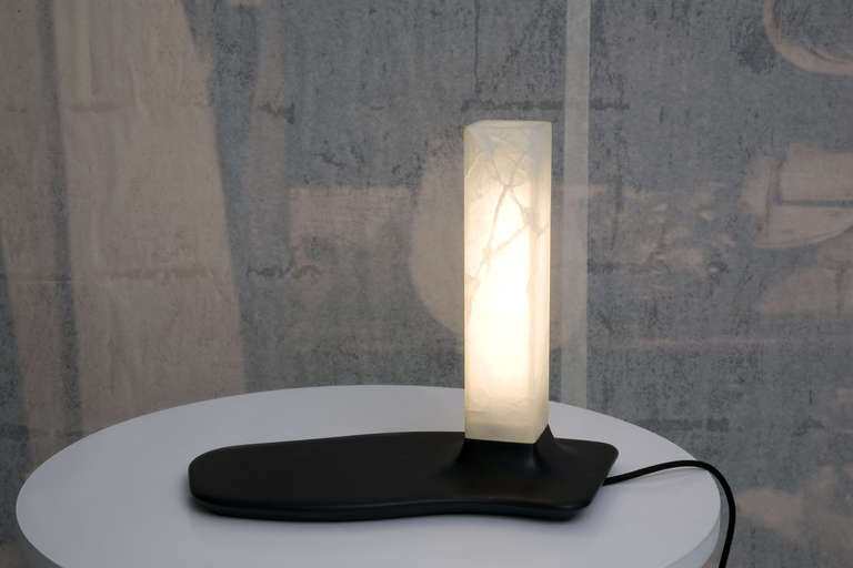 Onyx and Slate Table Lamps by Adrien de Melo For Sale 2