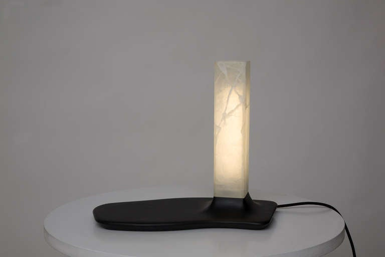 Contemporary Onyx and Slate Table Lamps by Adrien de Melo For Sale