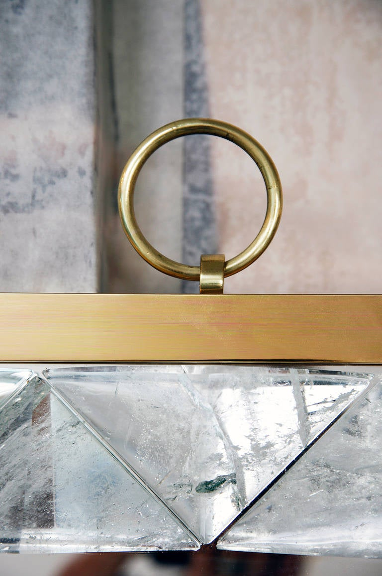 Mirror with Rock Crystal Frame by Andre Hayat For Sale 3