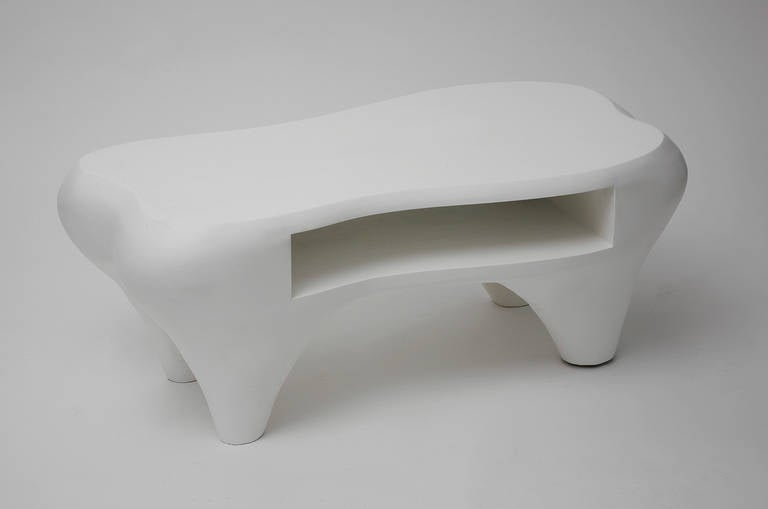 Toro Coffee Table with Open Shelf by Jacques Jarrige, 1998 In Good Condition For Sale In New York, NY