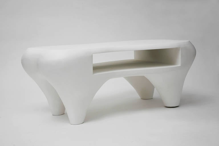 Contemporary Toro Coffee Table with Open Shelf by Jacques Jarrige, 1998 For Sale