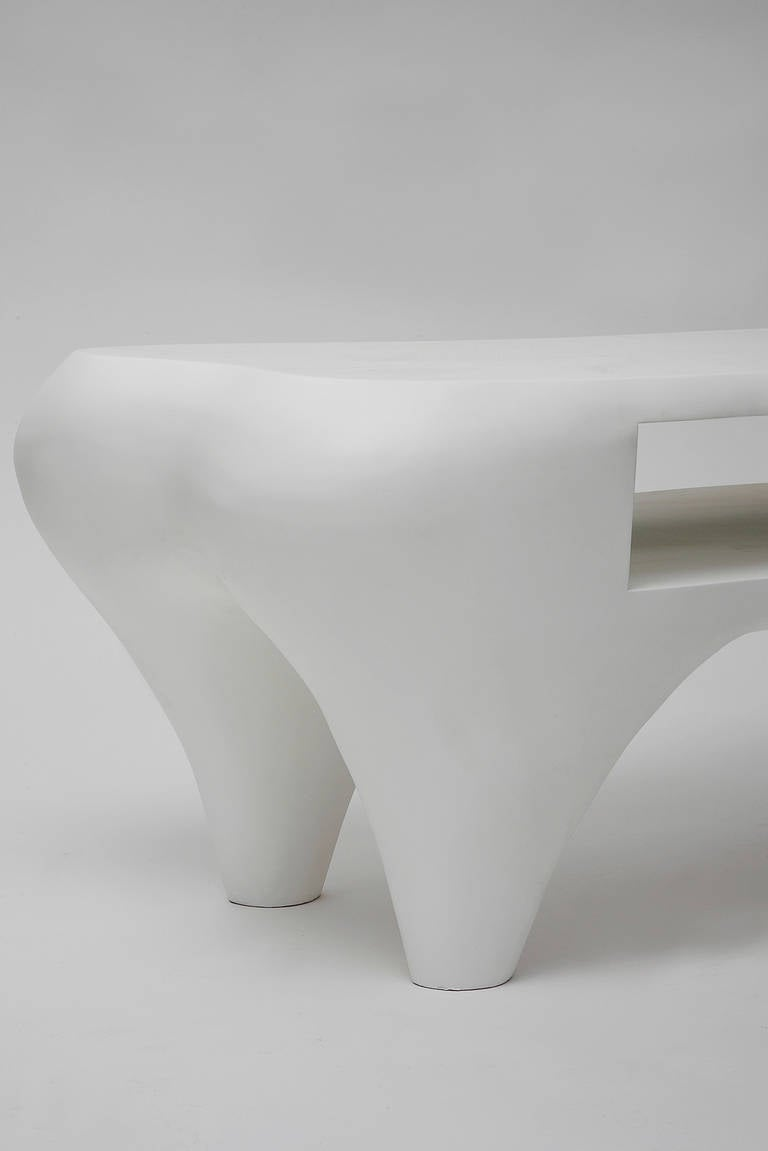 Toro Coffee Table with Open Shelf by Jacques Jarrige, 1998 For Sale 3