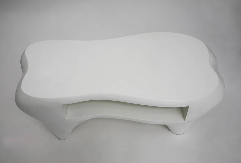 Toro Coffee Table with Open Shelf by Jacques Jarrige, 1998 For Sale 1