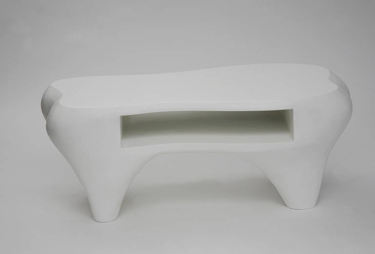 Toro Coffee Table with Open Shelf by Jacques Jarrige, 1998 For Sale 2