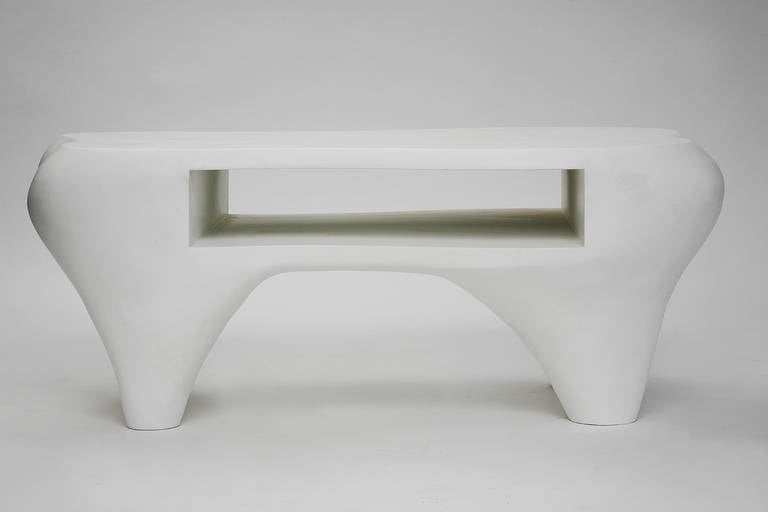 Composition Toro Coffee Table with Open Shelf by Jacques Jarrige, 1998 For Sale