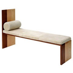 Long Walnut Bench by Tinatin Kilaberidze