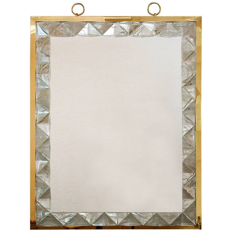 Mirror with Rock Crystal Frame by Andre Hayat