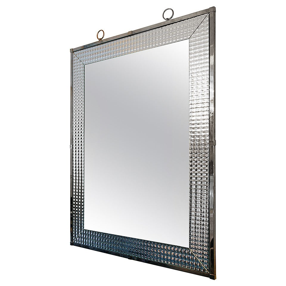 Large Mirror by Andre Hayat For Sale