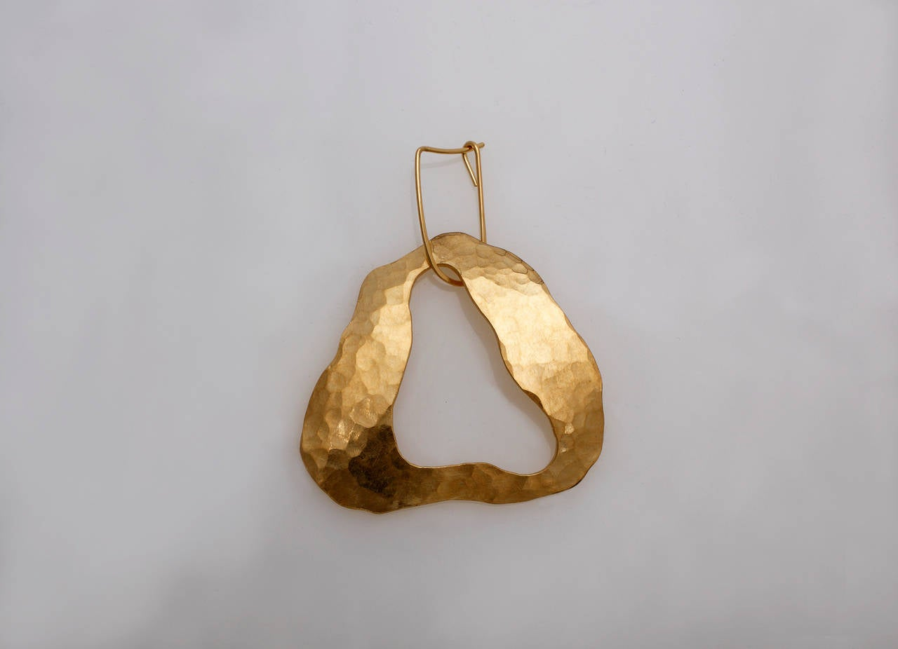 Contemporary Sculpture Earrings by Jacques Jarrige, 2014 For Sale