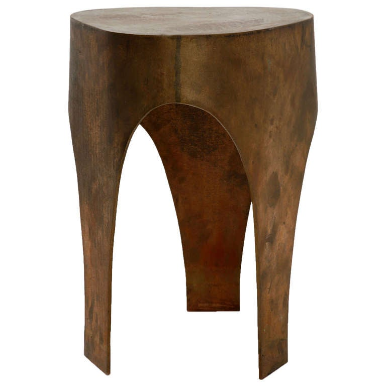 Unique Stool in Bronze by Jacques Jarrige, 2005 For Sale