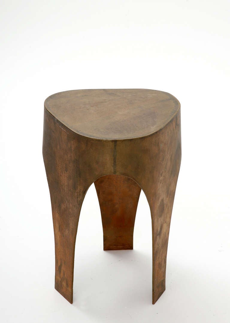 French Unique Stool in Bronze by Jacques Jarrige, 2005 For Sale