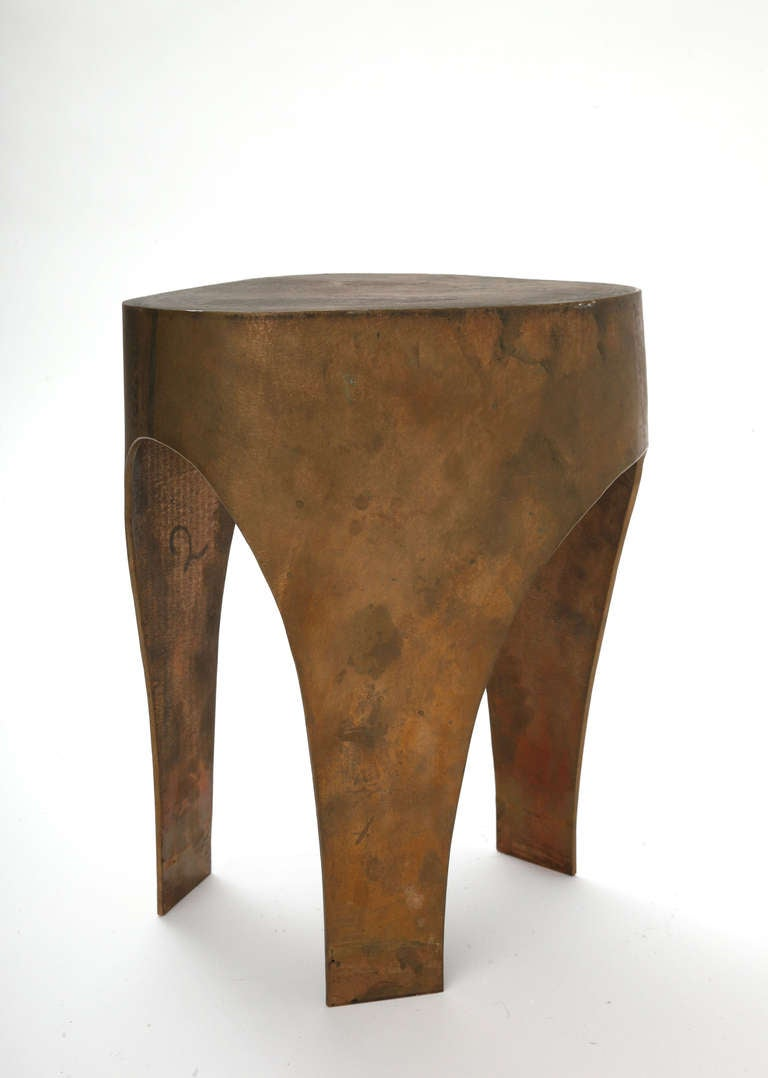 Contemporary Unique Stool in Bronze by Jacques Jarrige, 2005 For Sale