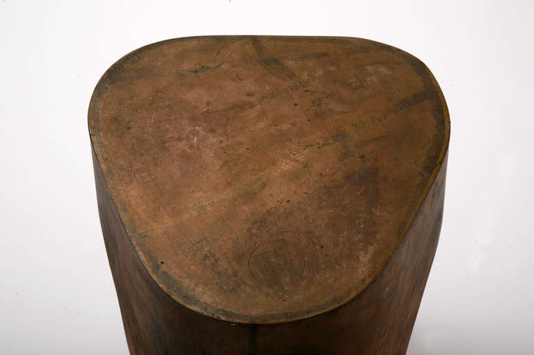 Unique Stool in Bronze by Jacques Jarrige, 2005 For Sale 2