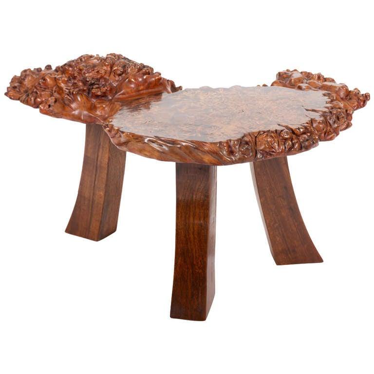 Japanese Burl Wood Table At 1stdibs