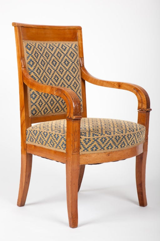 louis philippe fruitwood armchair fauteuil at 1stdibs