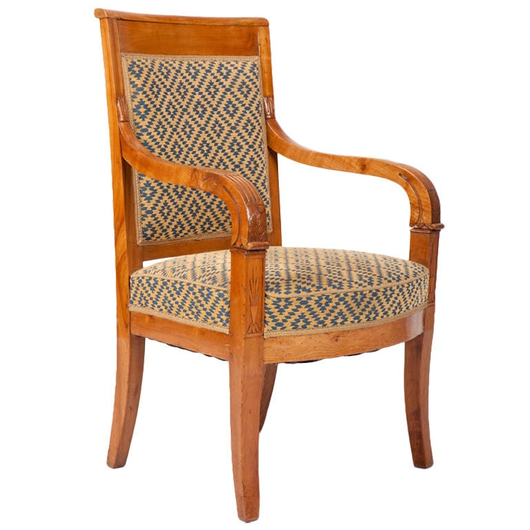 french louis philippe fruitwood armchair fauteuil at 1stdibs. Black Bedroom Furniture Sets. Home Design Ideas