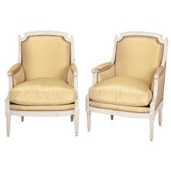 Fine Pair of French Louis XVI Bergeres