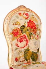 English Victorian Rococo Revival Slipper Chair image 6