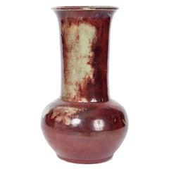 French Art Nouveau Flambe Glazed Vase