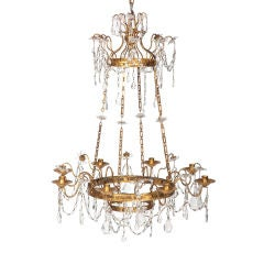 French Gilded Metal Chandelier in the Neoclassical Taste