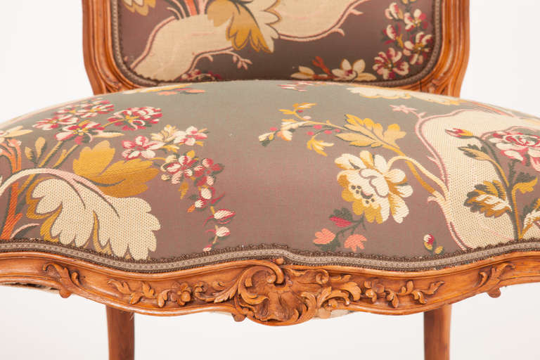Fine Pair of French Louis XV Style Fauteuils For Sale 1