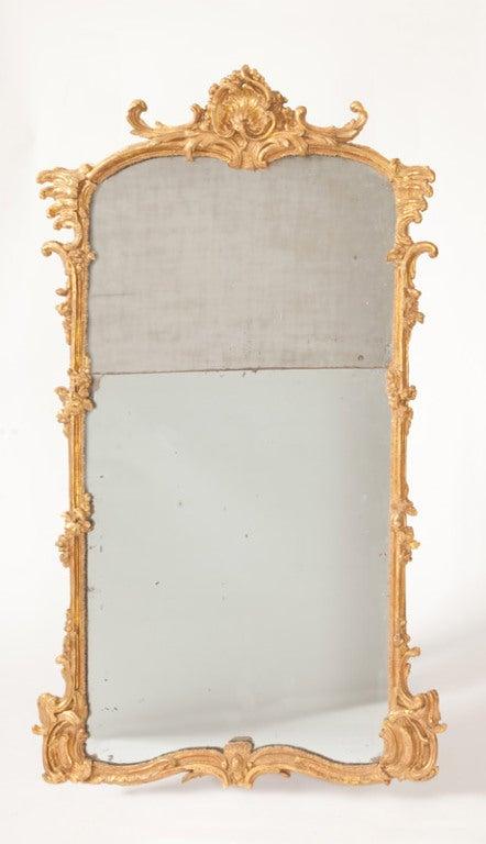Fine French Louis XV Gilt Wood Mirror 2
