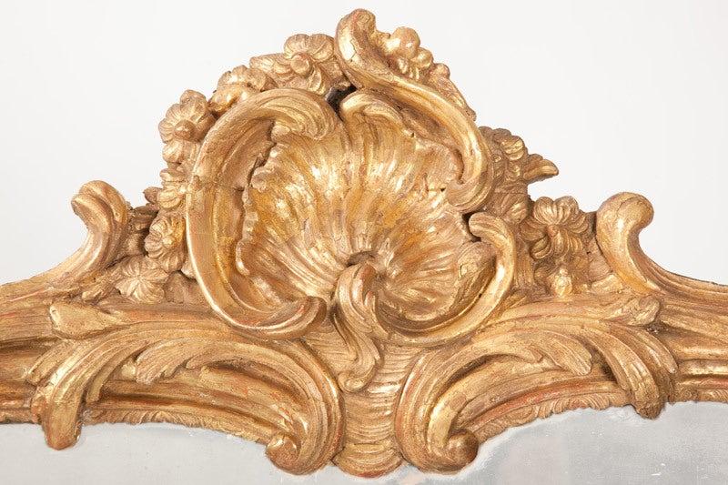 Fine French Louis XV Gilt Wood Mirror 3