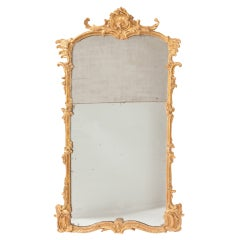 Fine French Louis XV Gilt Wood Mirror thumbnail 1