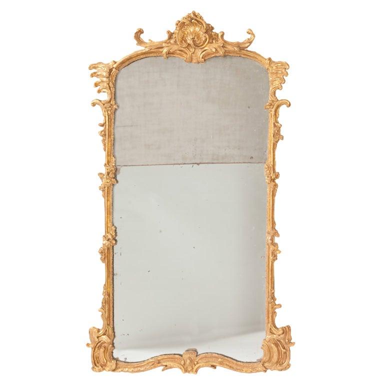 Fine French Louis XV Gilt Wood Mirror