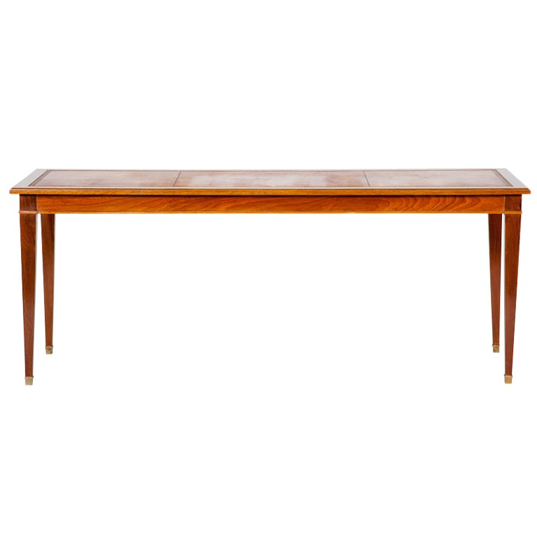 French modernist long table in the louis xvi taste at 1stdibs for Long desk table for two