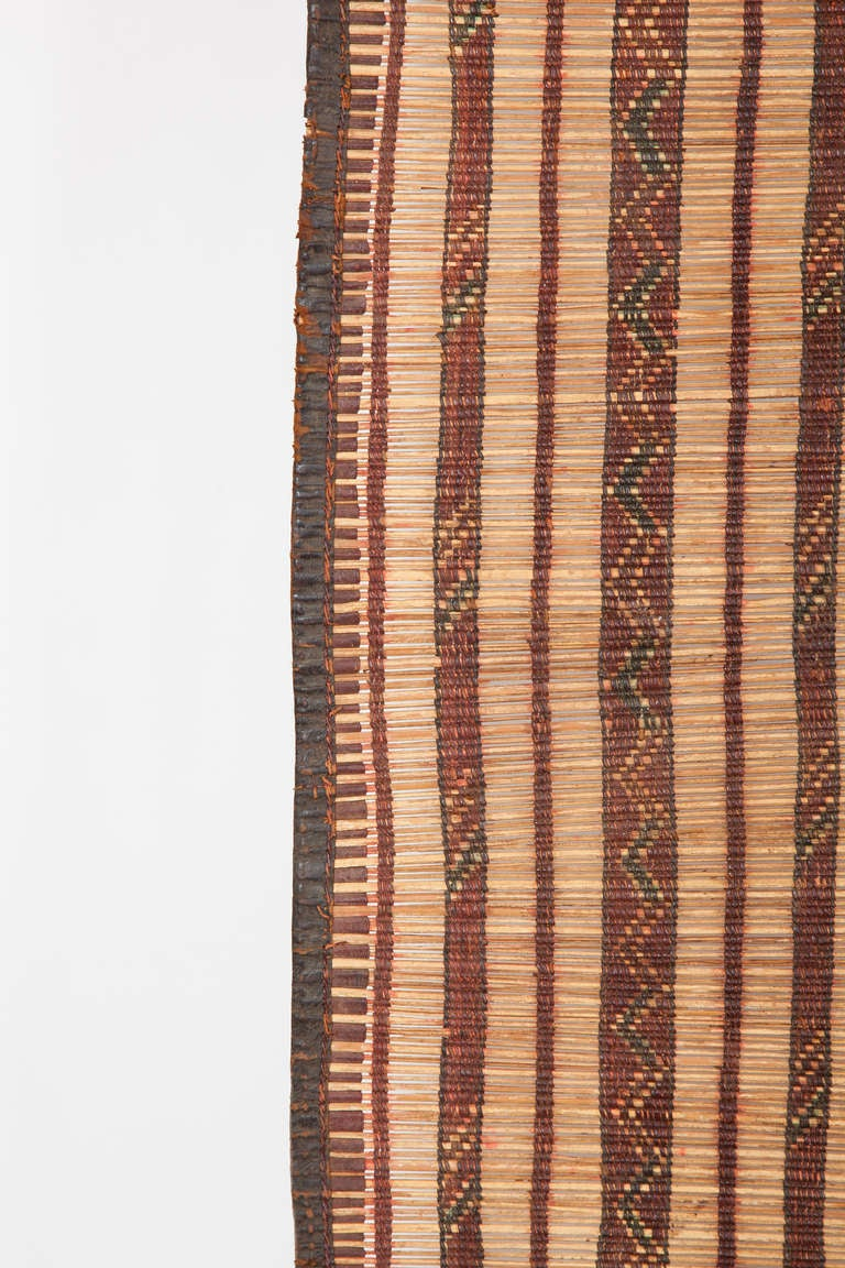 Tuareg Straw And Leather Mat At 1stdibs