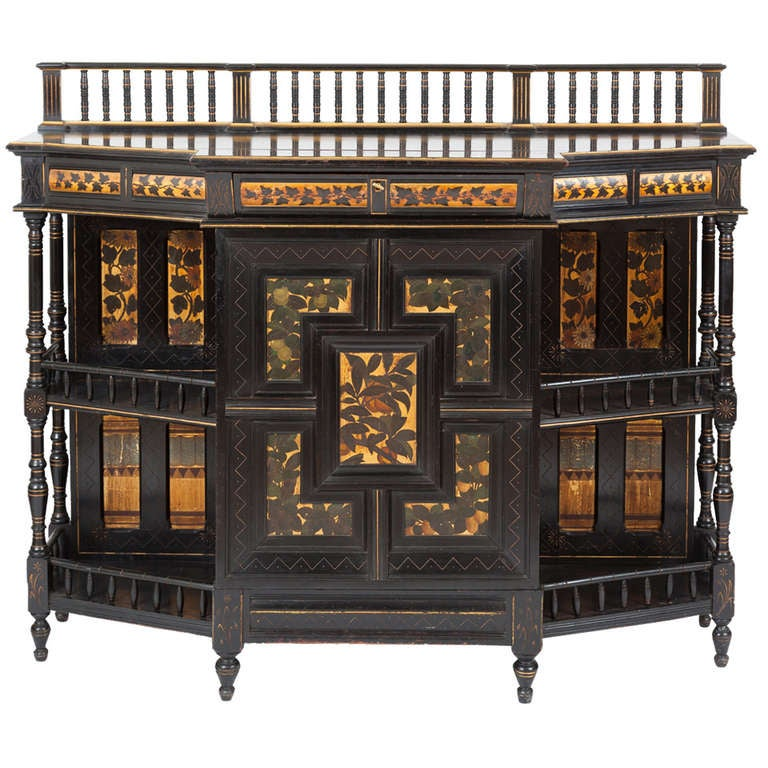 Fine And Rare English Aesthetic Movement Cabinet At 1stdibs