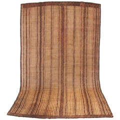 Tuareg Straw and Leather Mat