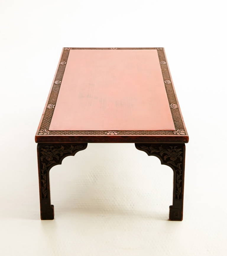 20th Century Chinese Art Deco Lacquered Low Table For Sale