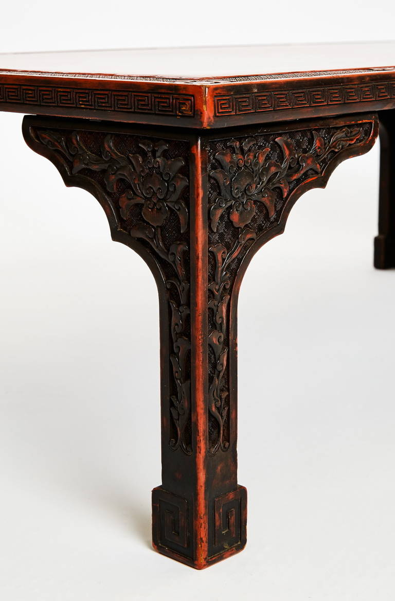 Chinese Art Deco Lacquered Low Table For Sale 1