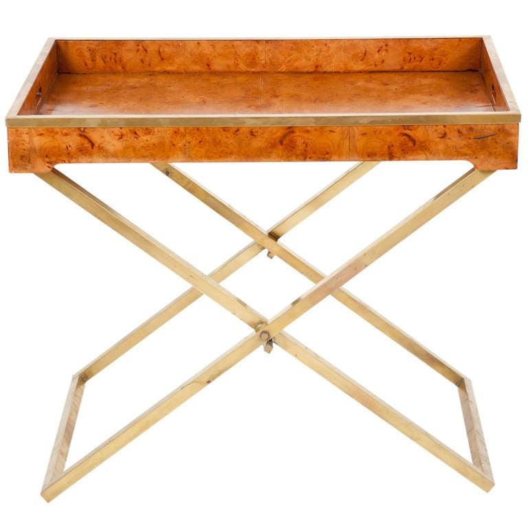 American Modern Folding Tray Table At 1stdibs