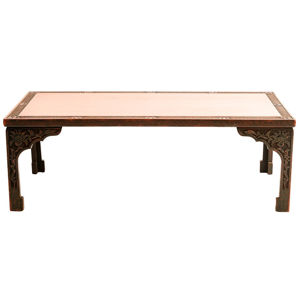 Chinese Art Deco Lacquered Low Table