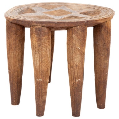 African Nupe Stool with Eight Legs
