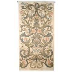 Embroidered Wall Hanging Tapestry, Early 18th Century