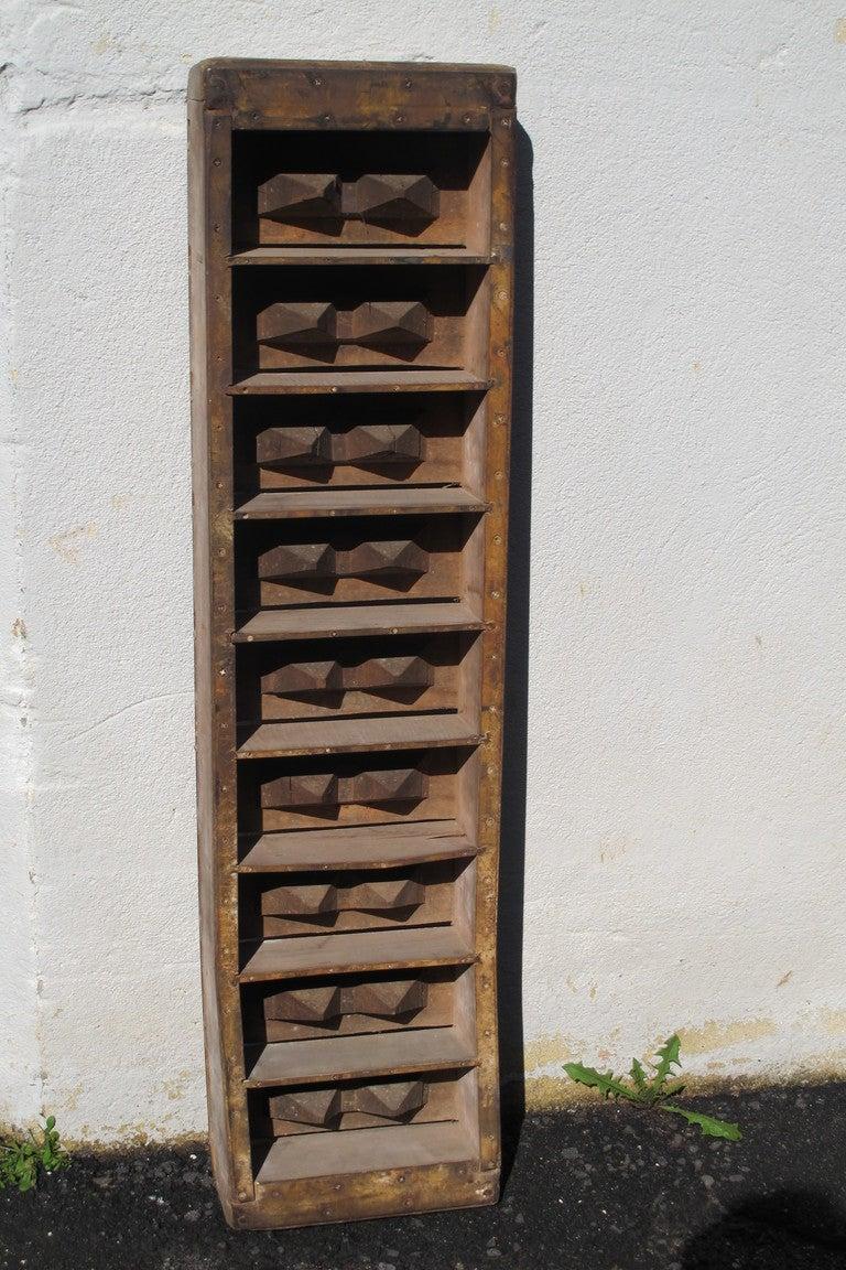 Steel Brick Mold : Wood brick making mold at stdibs