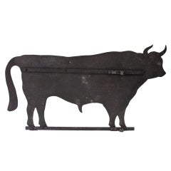 Large Bull Sheet Iron Weathervane