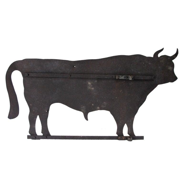 Large Bull Sheet Iron Weathervane