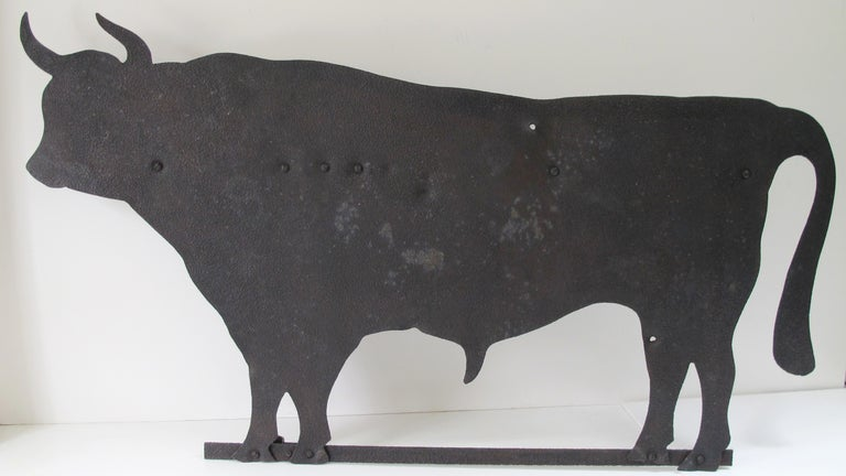 Large Bull Sheet Iron Weathervane At 1stdibs