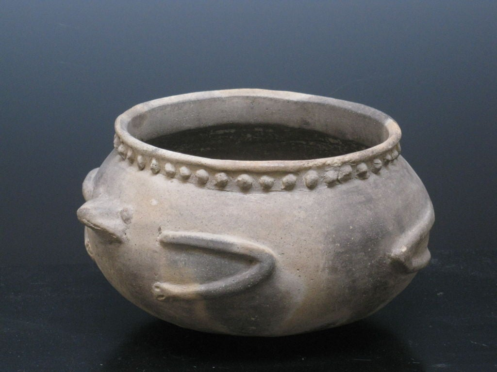 Native American Frog Effigy Bowl At 1stdibs