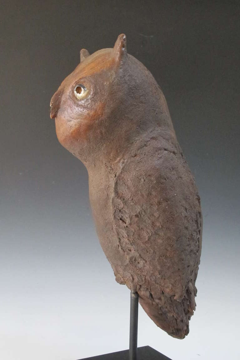 Owl folk sculpture for sale at stdibs