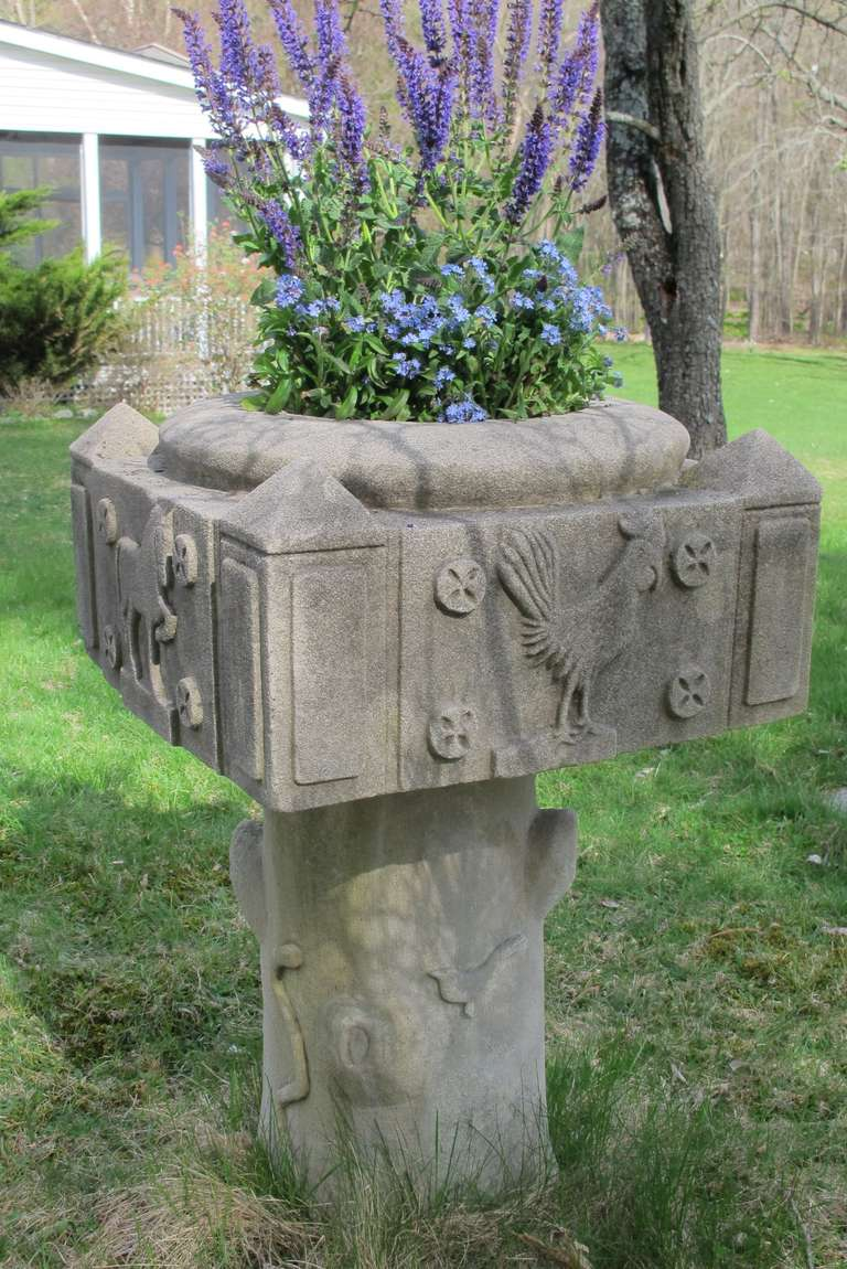 Limestone Garden Planter Sculpture For Sale At 1stdibs
