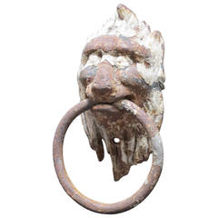 Iron Lion Head Door Knocker