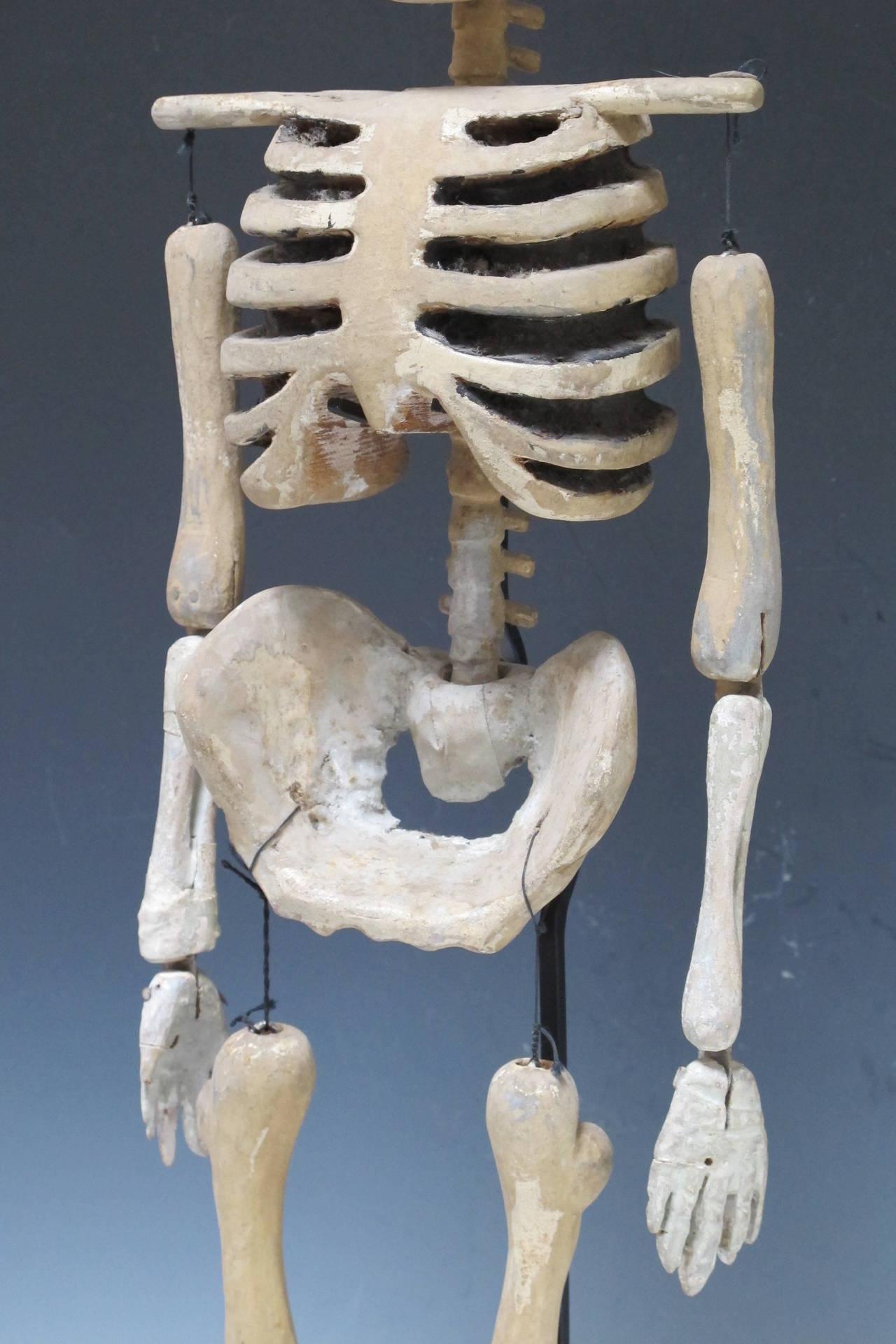 Wood Skeleton Puppet At 1stdibs