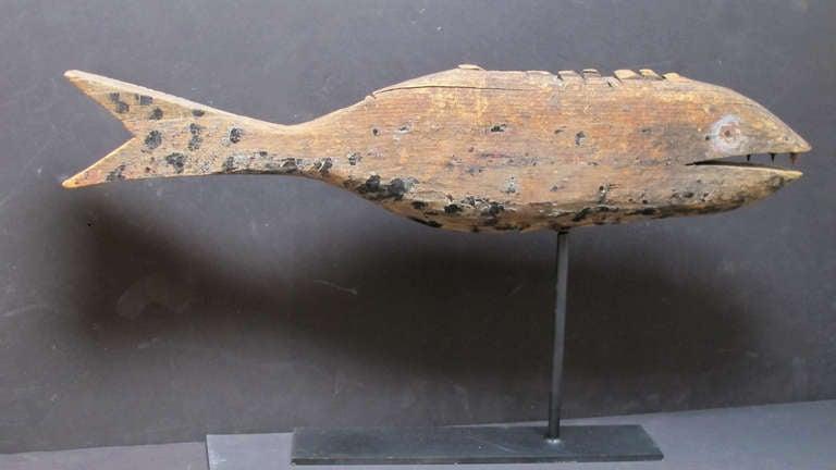 Wooden Fish Weathervane At 1stdibs