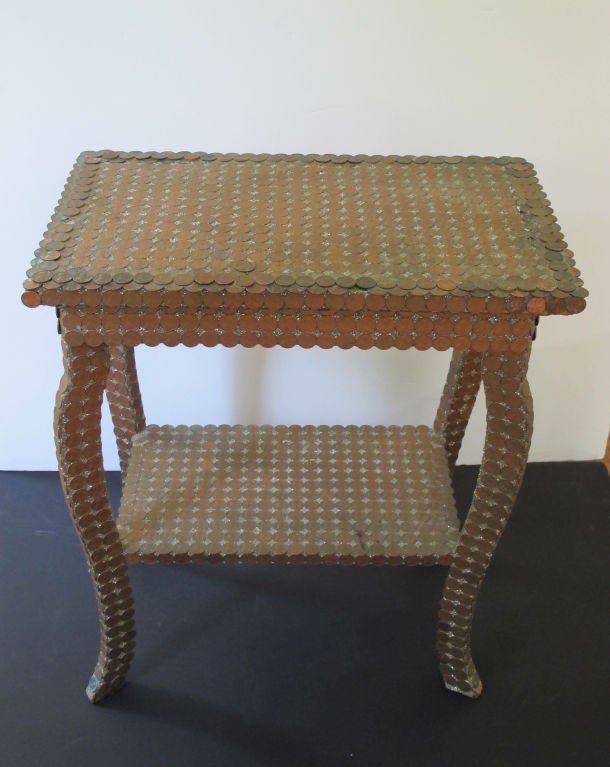 how to make a penny covered table